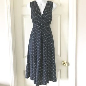 Vintage Style Navy Polka Dot Dress